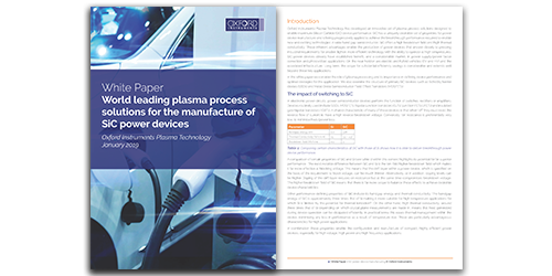 Silicon carbide white paper on plasma processing solutions for SiC power devices