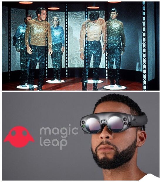 Star Trek Beam Me Up Scotty and AR Magic Leap