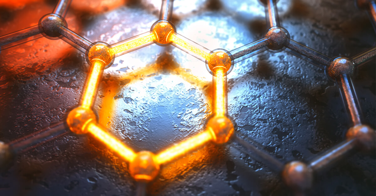 Graphene 2D materials structure of atoms